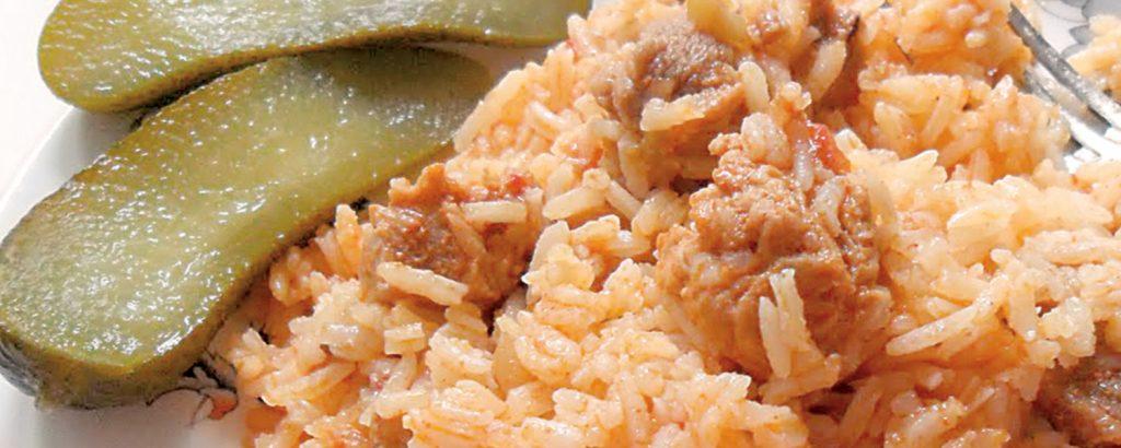 Ουγγαρέζικο πιλάφι με χοιρινό (Rizseshùs)