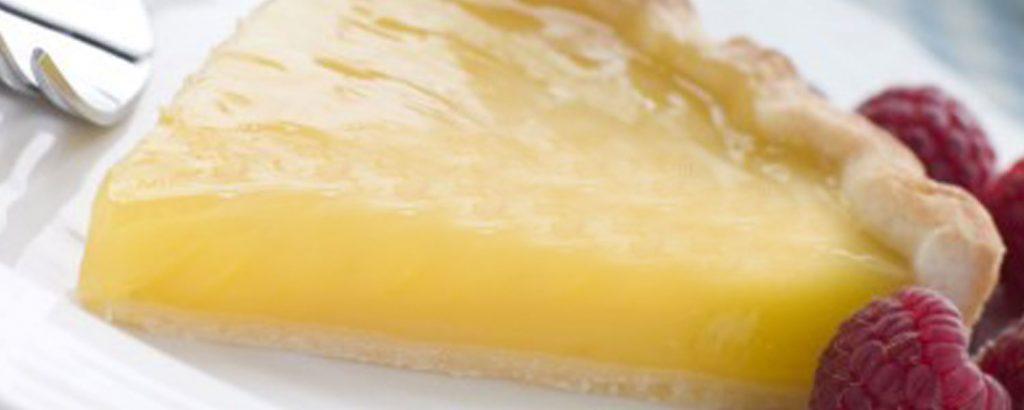 Τάρτα με βελούδινη κρέμα λεμόνι