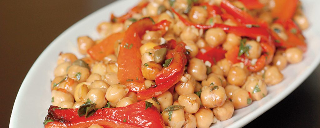 Ρεβίθια με κόκκινες πιπεριές (Ισπανική συνταγή)
