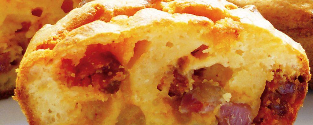Cupcakes με τυρί και ζαμπόν