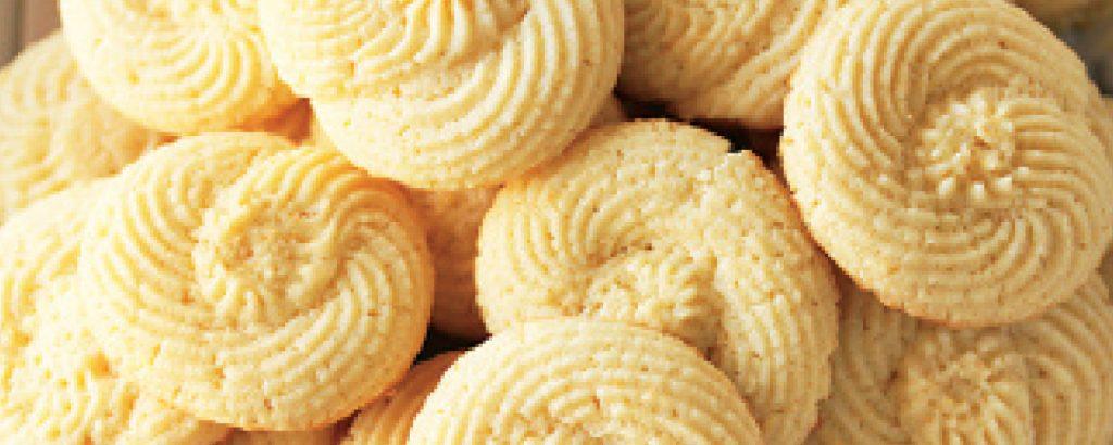 Μπισκότα-σαλιγκάρια λεμονιού