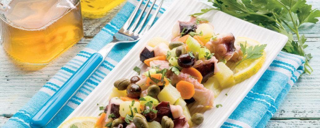 Χταπόδι σαλάτα με λαχανικά