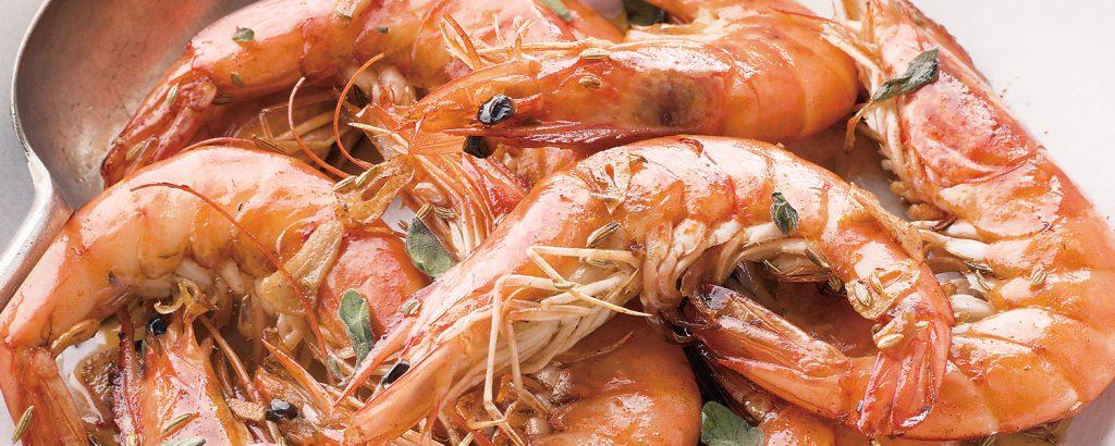 Γαρίδες με ούζο