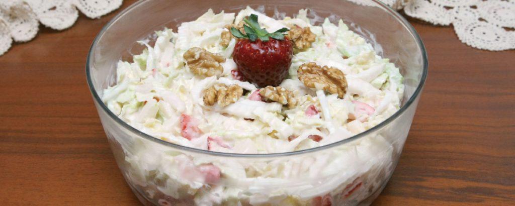 Σαλάτα φράουλες και μήλα