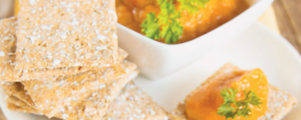 Λιβανέζικο dip με πιπεριές και αμύγδαλα