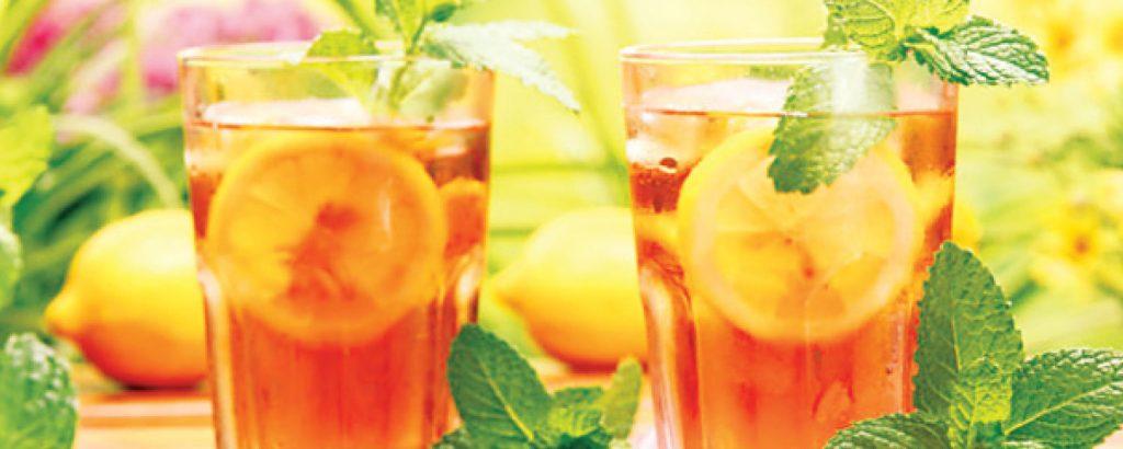 Iced tea μήλου και μέντας