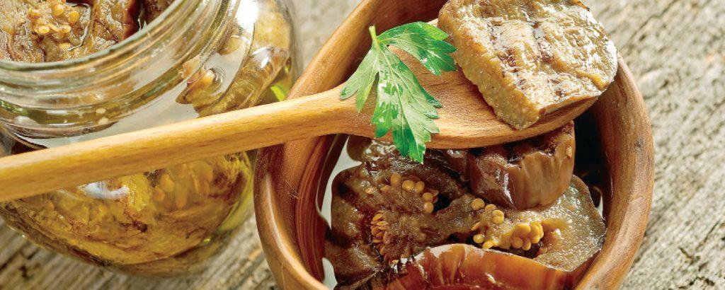 Μελιτζάνες με ελαιόλαδο και βαλσάμικο