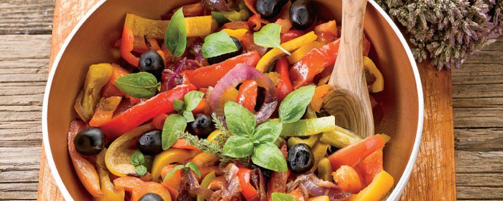 Ζεστή σαλάτα με πιπεριές