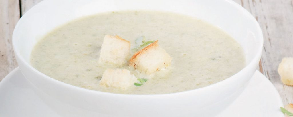 Σούπα κρέμα με φρέσκα φασολάκια