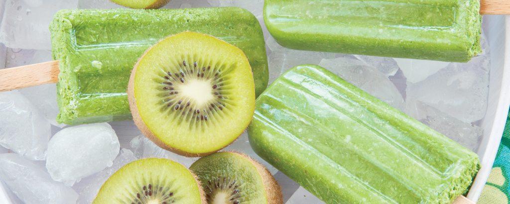 Παγωτό ακτινίδιο με χυμό ανανά