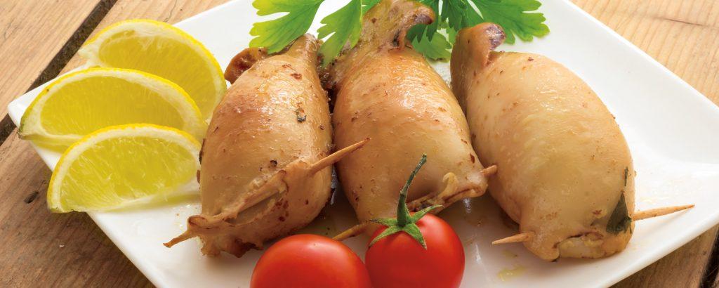 Καλαμάρια γεμιστά (Νηστίσιμη συνταγή)