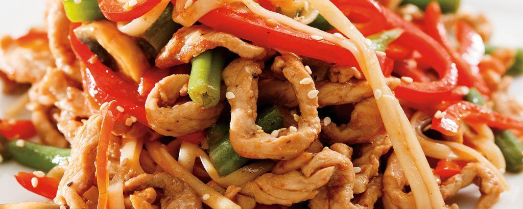 Μοσχαράκι με noodles