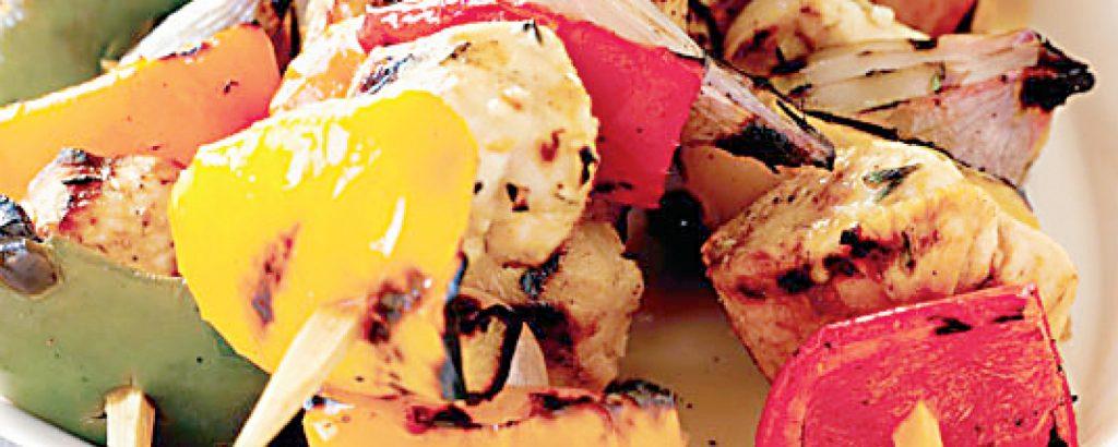 Κοτόπουλο σουβλάκι με πιπεριές