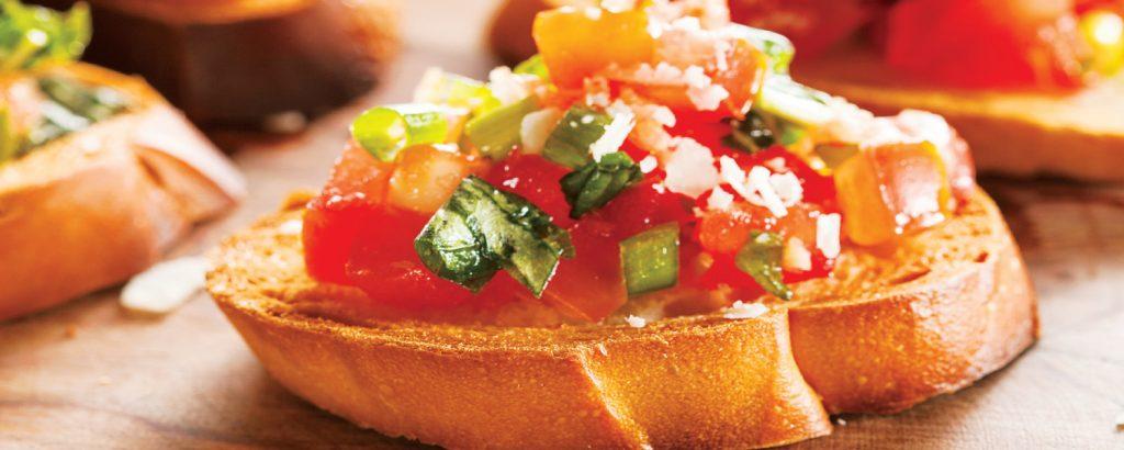 Κλασική μπρουσκέτα με ντομάτα