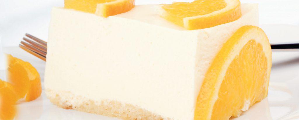 Μπαβαρουάζ με πορτοκάλι