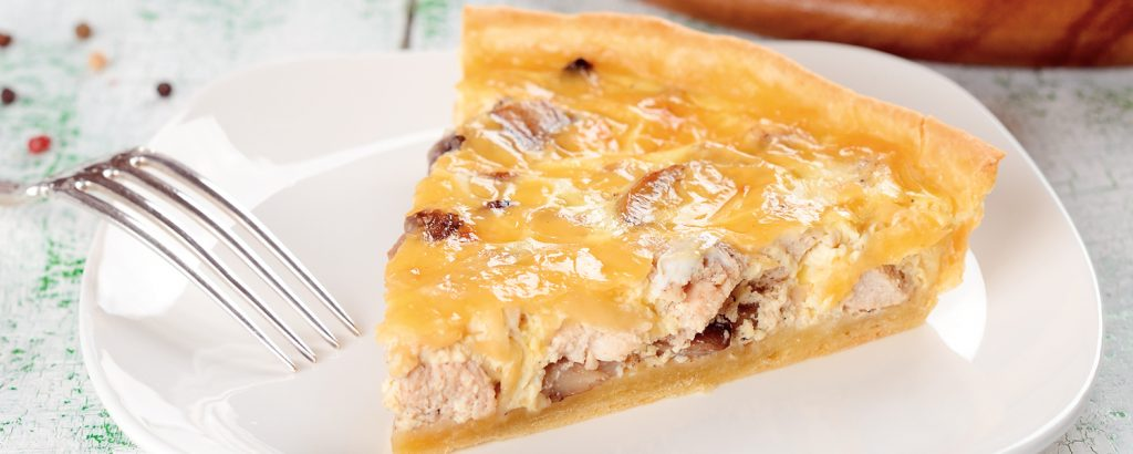 Quiche με μανιτάρια και πράσα