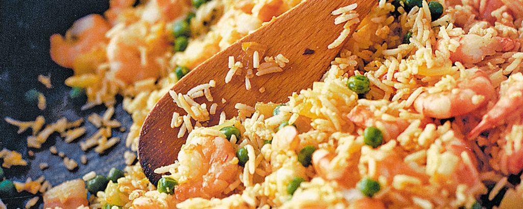 Κινέζικο τηγανητό ρύζι με γαρίδες