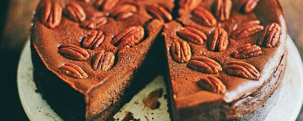 Cheesecake σοκολάτας με κέικ