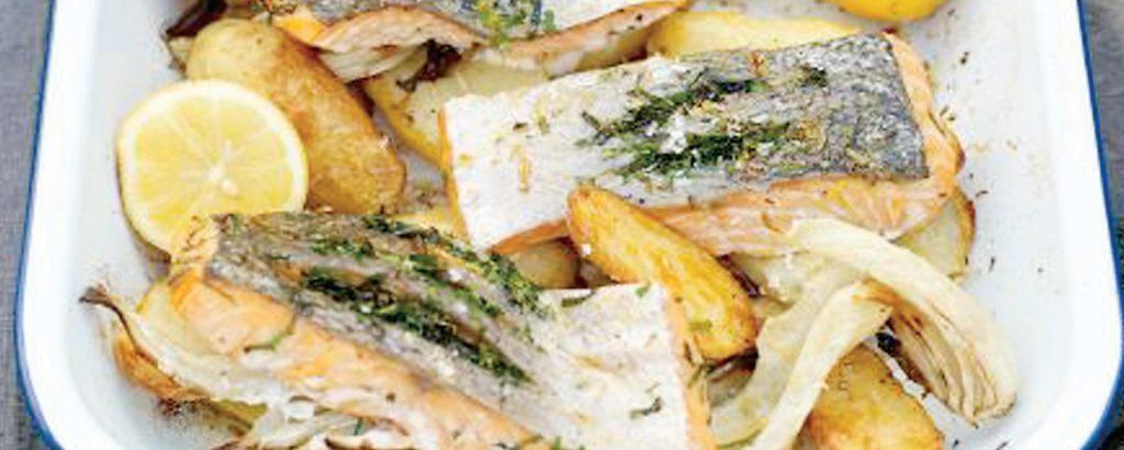 Σολομός με πατάτες στο φούρνο