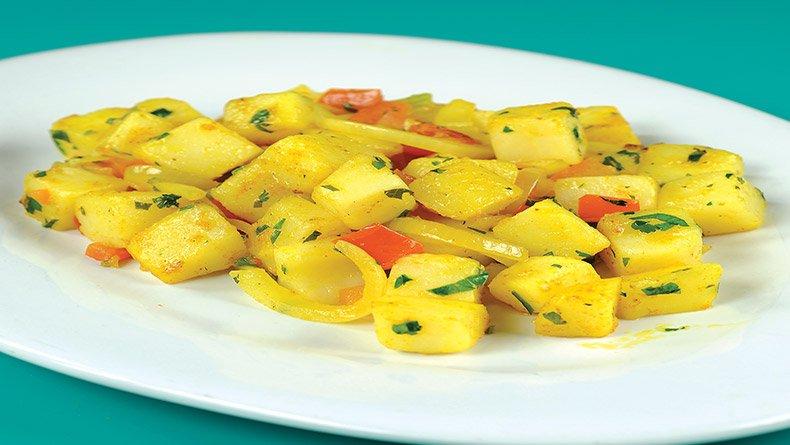 Πατάτες κάρι µε φρέσκο κόλιανδρο