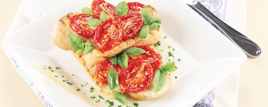 Μπρουσκέτα με ντομάτες αρωματικές