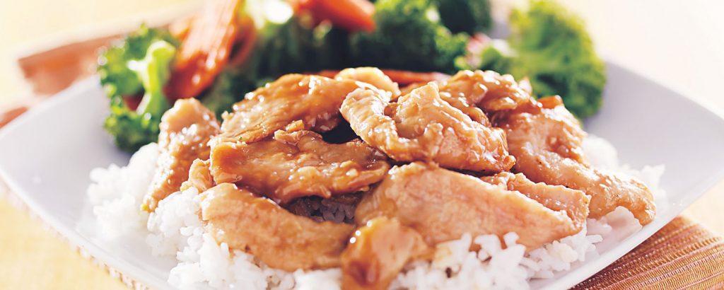 Κοτόπουλο τεριγιάκι µε άσπρο ρύζι