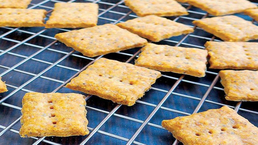 Αλμυρά μπισκότα ολικής αλέσεως