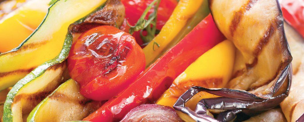 Ανάμικτα λαχανικά ψητά σε τηγάνι/σχάρα