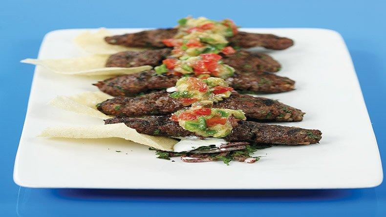 Αραβικά κόφτα με μελιτζανοσαλάτα