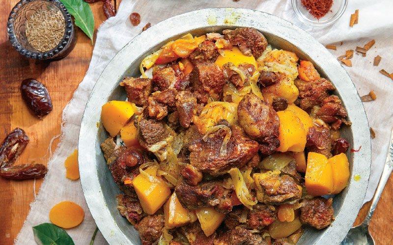 Περσικό ταζίν με αρνί (tagine)