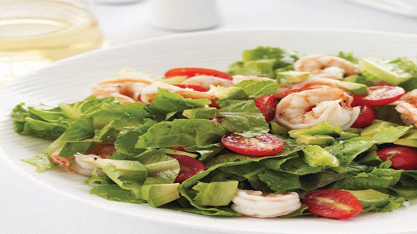 Αρωματικές βραστές γαρίδες σαλάτα