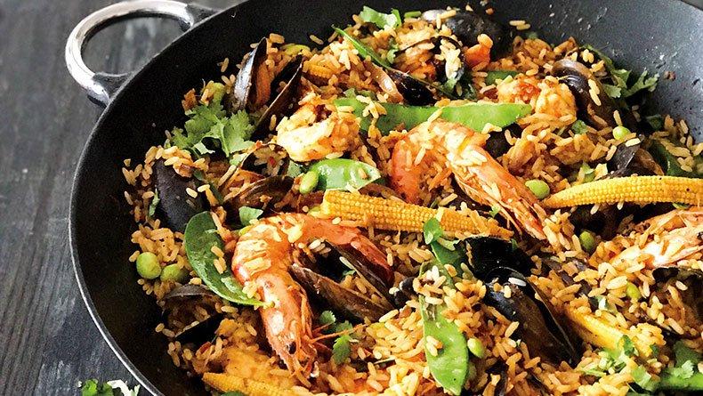 Ασιατικό ρύζι με γαρίδες