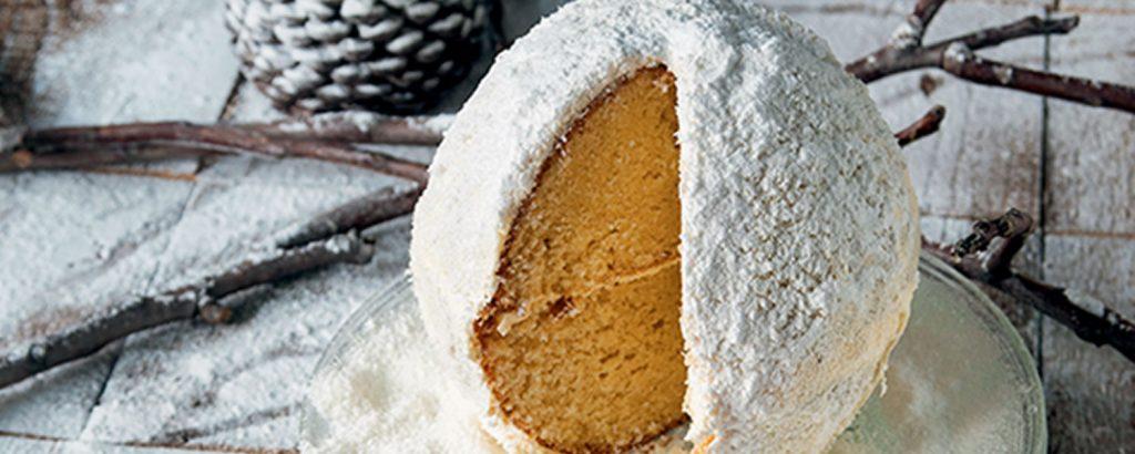 Σφαίρα από κέικ με ινδική καρύδα