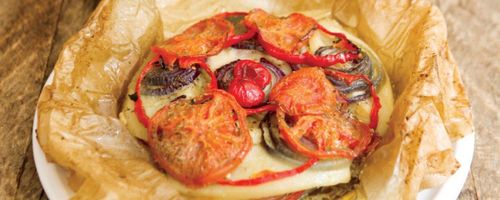 Ψάρι φιλέτο με λαχανικά
