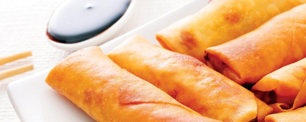 Spring rolls με χοιρινό