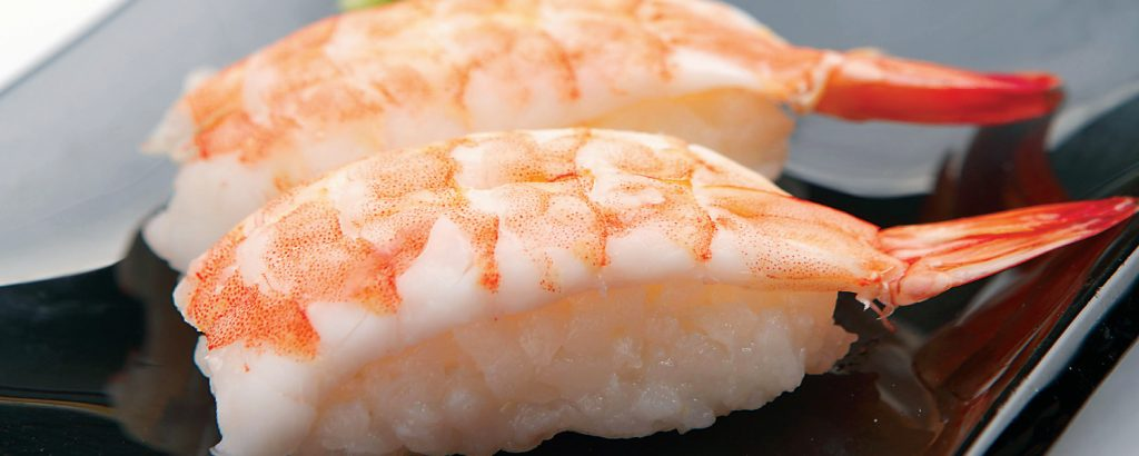 Σούσι νιγκίρι με γαρίδες