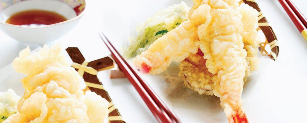 Τεμπούρα με γαρίδες και λαχανικά
