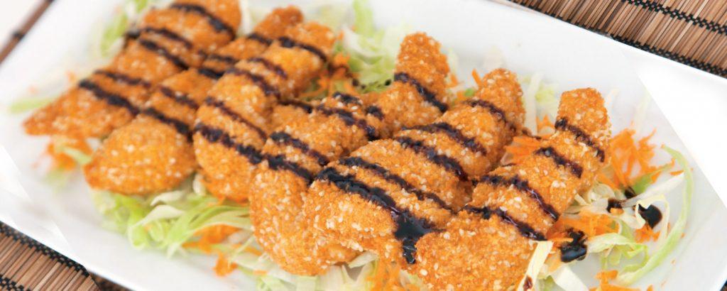 Σαλάτα με τραγανό κοτόπουλο