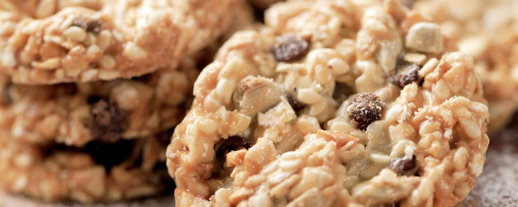 Mπισκότα με φιστίκια και ινδοκάρυδο