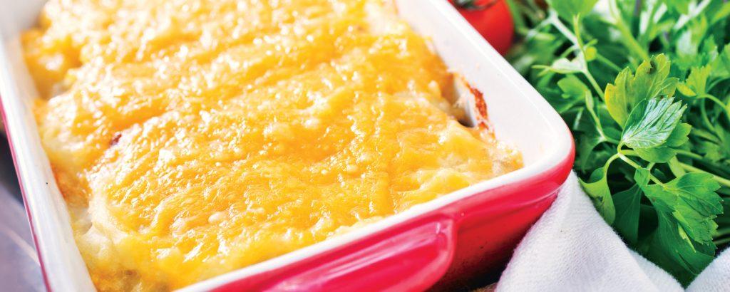 Ψάρι στο φούρνο με κρούστα τυριού