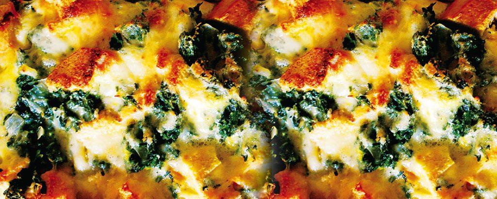 Ιταλική «στράτα» με σπανάκι και τυρί