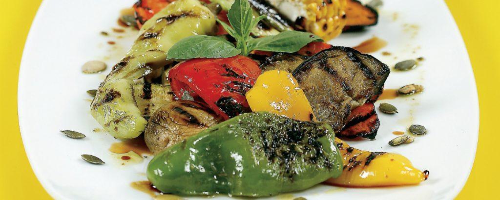 Μαριναρισμένα λαχανικά σχάρας