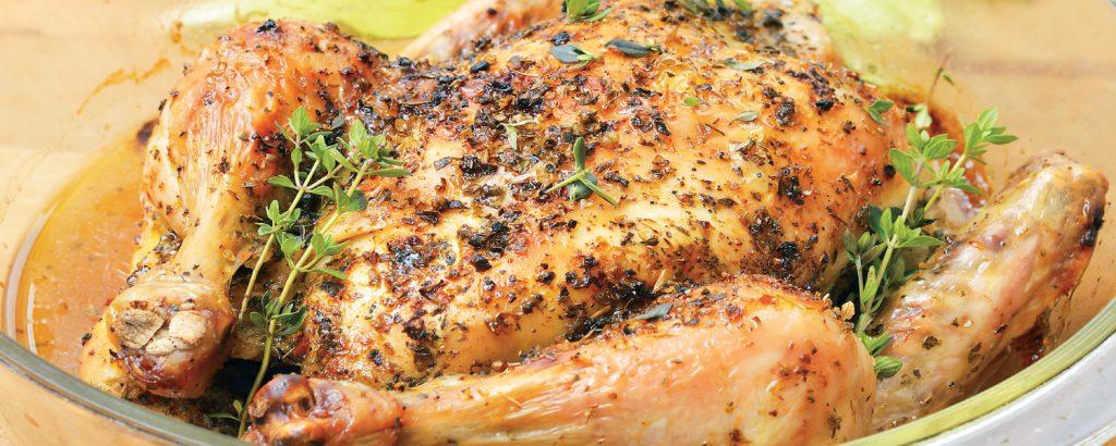 Κοτόπουλο ολόκληρο στο φούρνο