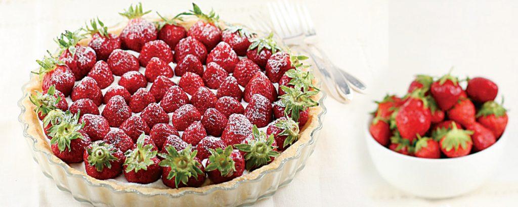Τάρτα με φράουλες και κρέμα