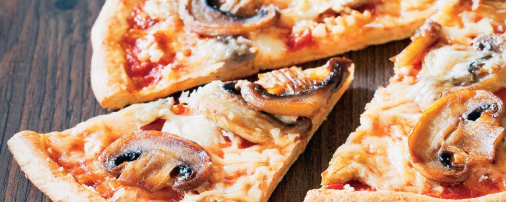Πίτσα με μανιτάρια
