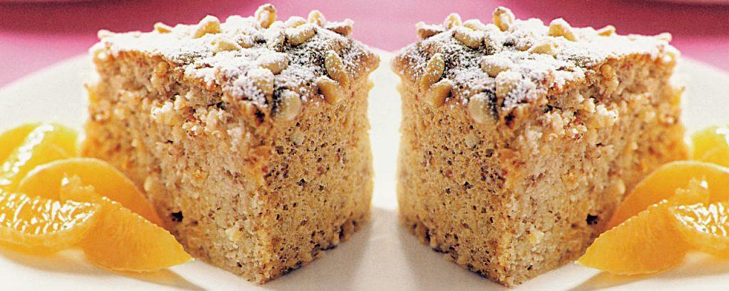 Κέικ αμυγδάλου με μανταρίνια