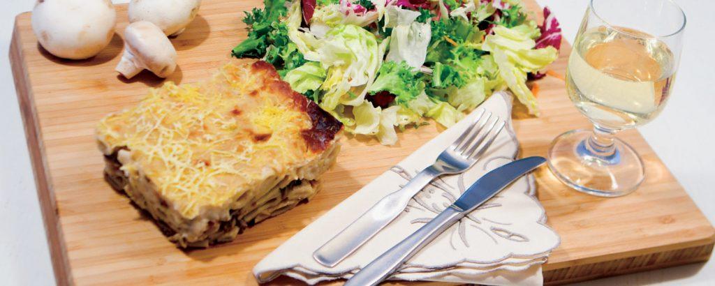Παστίτσιο με μανιτάρια και «μπεσαμέλ»