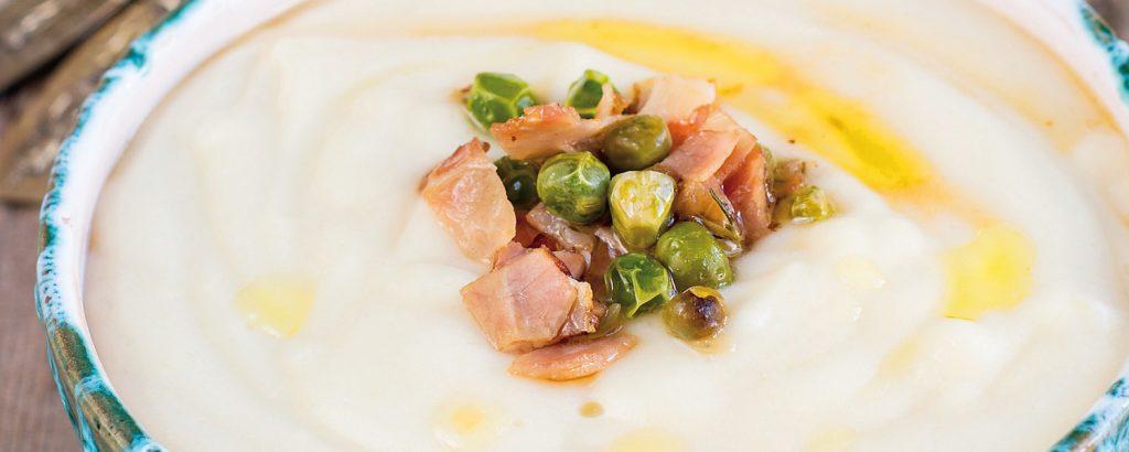 Πατατόσουπα με λούντζα και κάπαρη