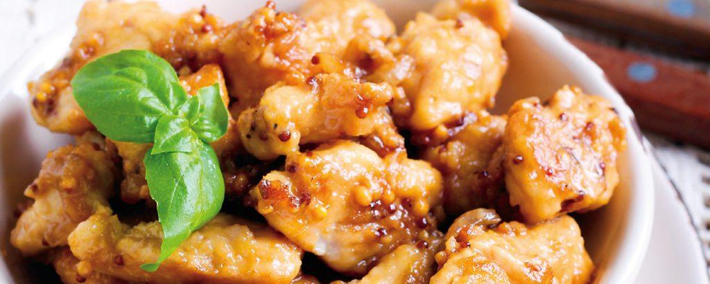 Μπούτι κοτόπουλο με σάλτσα Dijon