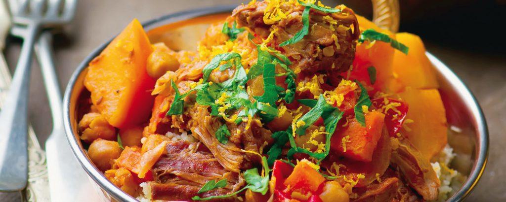 Ινδικό αρνί με κόκκινη πιπεριά και κους-κους